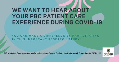 PBC Patient experience survey